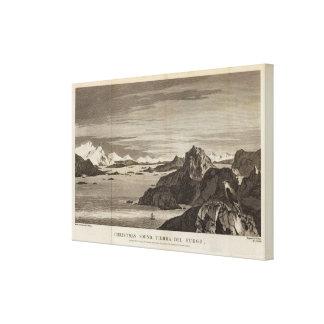 Sonido del navidad, Tierra del Fuego, Chile Lona Estirada Galerias