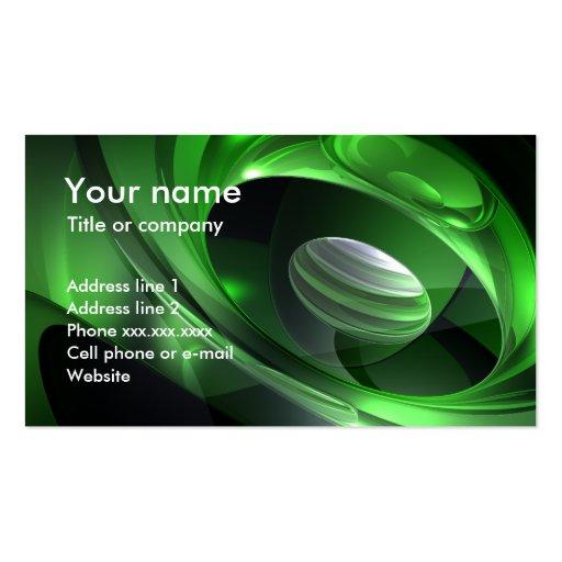 Sonido del verde tarjetas de negocios