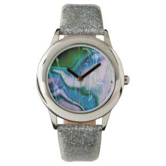 sonido líquido, azul relojes de pulsera