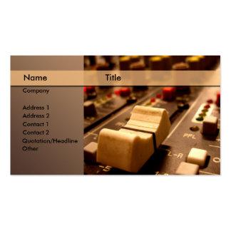 Sonido \ música \ productor \ mezclador tarjetas de visita