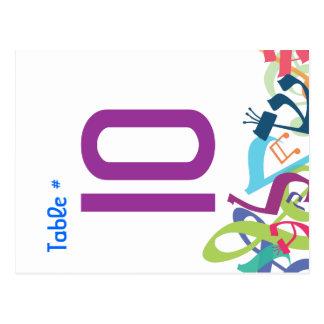 SONIDOS de la tarjeta del asiento del número de la Postales