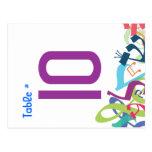 SONIDOS de la tarjeta del asiento del número de la Tarjetas Postales