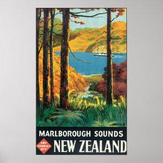 Sonidos de Marlborough, poster del viaje de Nueva