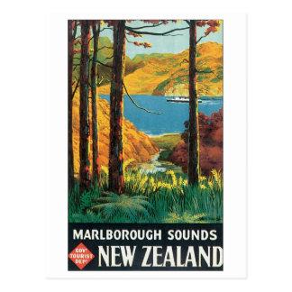 Sonidos de Marlborough, poster del viaje de Nueva  Postales