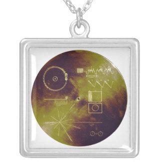 Sonidos del disco de oro del viajero 1 y 2 de la colgante cuadrado