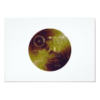 Sonidos del disco de oro del viajero 1 y 2 de la invitación 8,9 x 12,7 cm