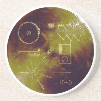 Sonidos del disco de oro del viajero 1 y 2 de la posavasos diseño