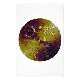 Sonidos del disco de oro del viajero 1 y 2 de la t papelería