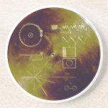 Sonidos del disco de oro del viajero 1 y 2 de la t posavasos diseño