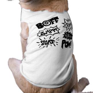 Sonidos del super héroe camiseta de mascota