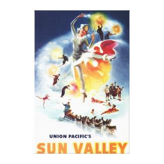 Sonja Henje Montage of Sun Valley Poster Canvas Print