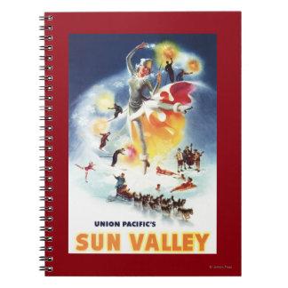 Sonja Henje Montage of Sun Valley Poster Notebook