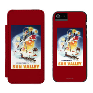 Sonja Henje Montage of Sun Valley Poster Wallet Case For iPhone SE/5/5s