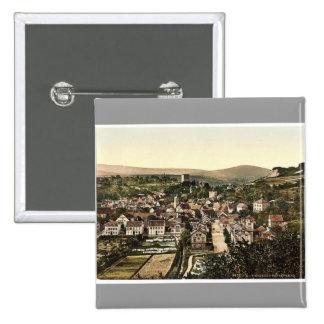 Sonnenberg, Wiesbaden, Hesse-Nassau, Germany rare 2 Inch Square Button