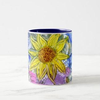 sonnenblume/sunflower Two-Tone coffee mug