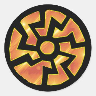 sonnenrad (rueda) del sol 2 pegatinas redondas