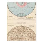 Sonnensystem, Mondkarte Celestial Map Postcard
