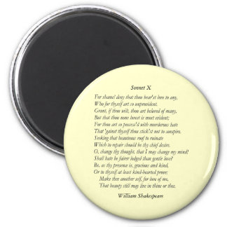 Sonnet # 10 by William Shakespeare Magnet