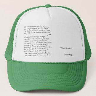 Sonnet # 17 by William Shakespeare Trucker Hat