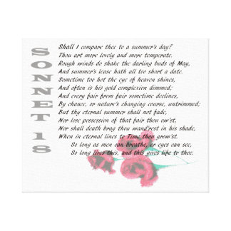 Sonnet 18 by Shakespeare Canvas Print