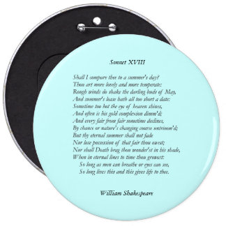 Sonnet # 18 by William Shakespeare Pin