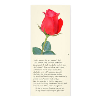 Sonnet # 18 by William Shakespeare Card