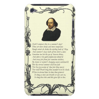 Sonnet # 18 by William Shakespeare iPod Touch Case-Mate Case
