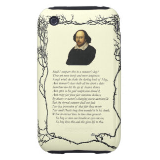 Sonnet # 18 by William Shakespeare Tough iPhone 3 Case