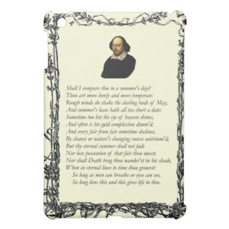 Sonnet # 18 by William Shakespeare iPad Mini Covers