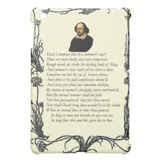 Sonnet # 18 by William Shakespeare iPad Mini Cases