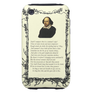 Sonnet # 18 by William Shakespeare iPhone 3 Tough Cover