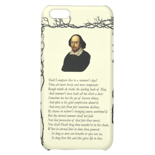 Sonnet # 18 by William Shakespeare iPhone 5C Cover