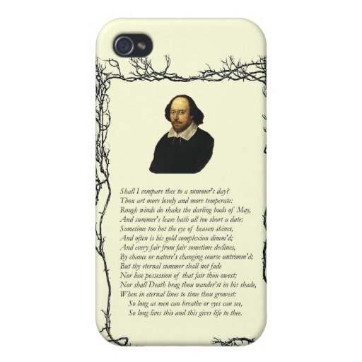 Sonnet # 18 by William Shakespeare iPhone 4/4S Covers