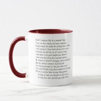 Sonnet # 18 by William Shakespeare Mug