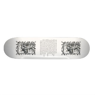 Sonnet # 18 by William Shakespeare Skateboard