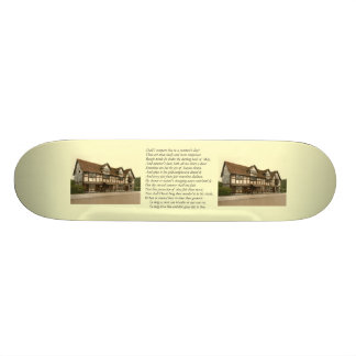 Sonnet # 18 by William Shakespeare Skateboard Deck