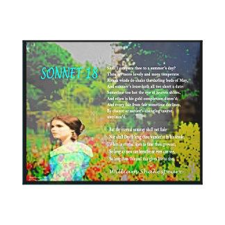 Sonnet 18 canvas print