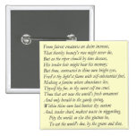 Sonnet # 1 by William Shakespeare 2 Inch Square Button