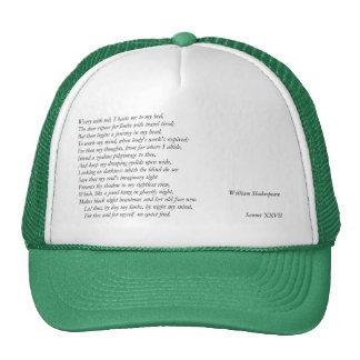 Sonnet # 27 by William Shakespeare Trucker Hat