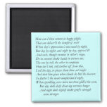 Sonnet # 28 by William Shakespeare Refrigerator Magnets