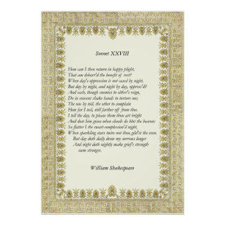 Sonnet # 28 by William Shakespeare Poster