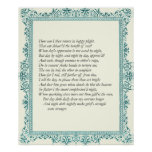 Sonnet # 28 by William Shakespeare Print