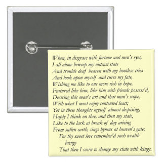 Sonnet # 29 by William Shakespeare Pin