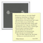 Sonnet # 30 by William Shakespeare 2 Inch Square Button