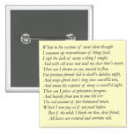 Sonnet # 30 by William Shakespeare Pin