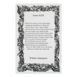 Sonnet # 30 by William Shakespeare Posters