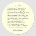 Sonnet # 30 by William Shakespeare Classic Round Sticker