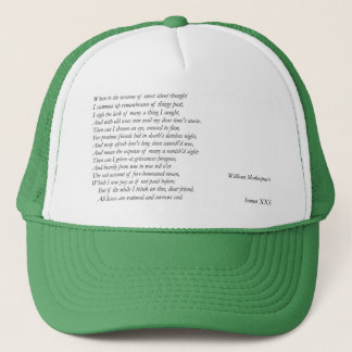 Sonnet # 30 by William Shakespeare Trucker Hat