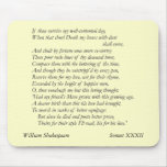Sonnet # 32 by William Shakespeare Mousepad