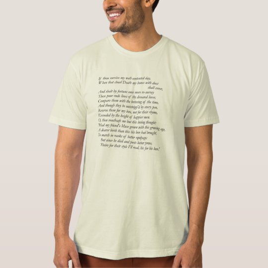 Sonnet # 32 by William Shakespeare T-Shirt